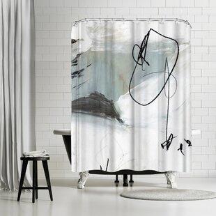East Urban Home PI Creative Art Tied I Shower Curtain
