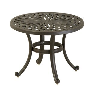 Merlyn Round Aluminum Side Table by Fleur De Lis Living Comparison