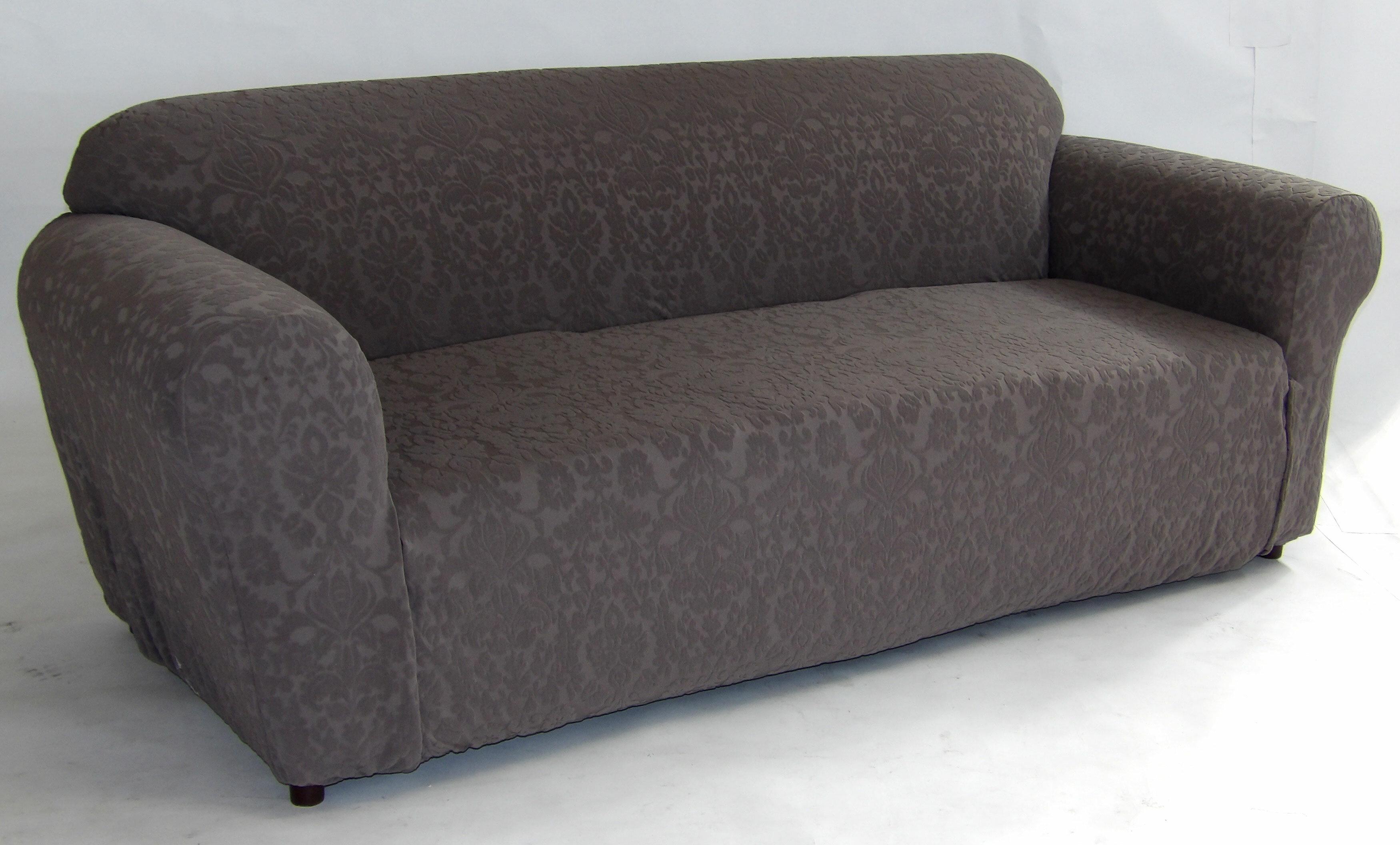 Beau Stretch Floral Box Cushion Sofa Slipcover