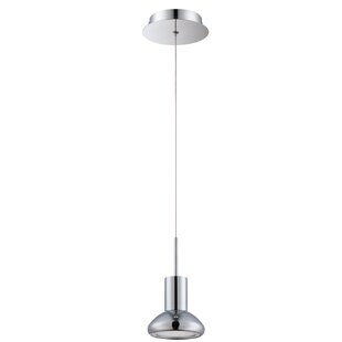 Orren Ellis Hiles 1-Light Bell Pendant
