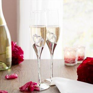 Dorinda Stunning Wedding Glass Flute (Set of 2)