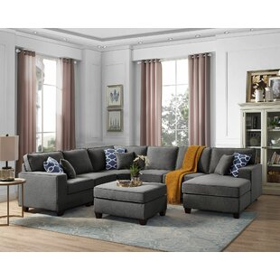 Spoon Modular Sectional with Ottoman