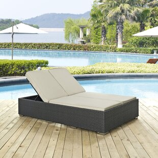 Tripp Double Chaise Lounge with Cushion by Brayden Studio