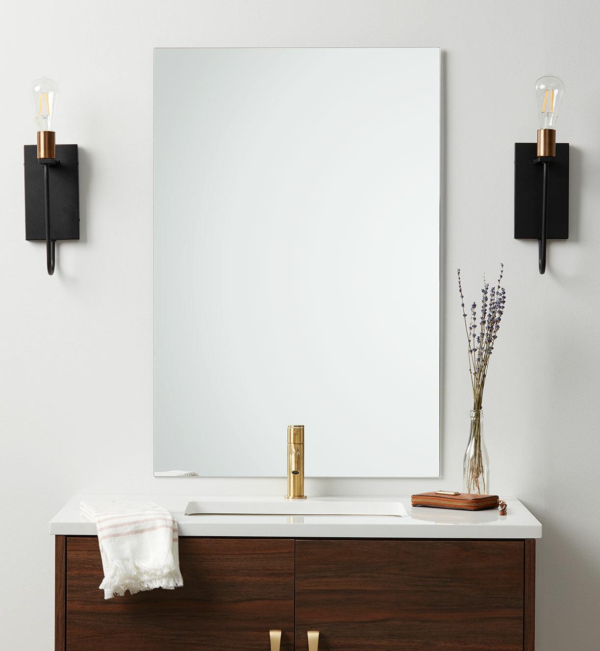 Better Bevel Frameless Modern Contemporary Vanity Mirror Reviews Wayfair