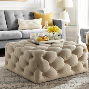 House of Hampton Mudd Square Tufted Cocktail Ottoman