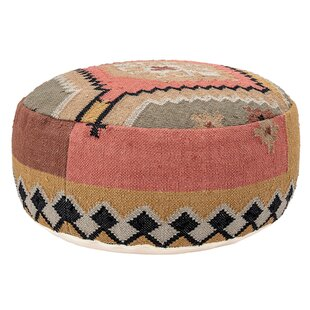 Melrose Handwoven Kilim Pouf by Union Rustic