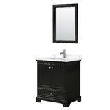Deborah 30 Single Bathroom Vanity Set with Mirror by Wyndham Collection