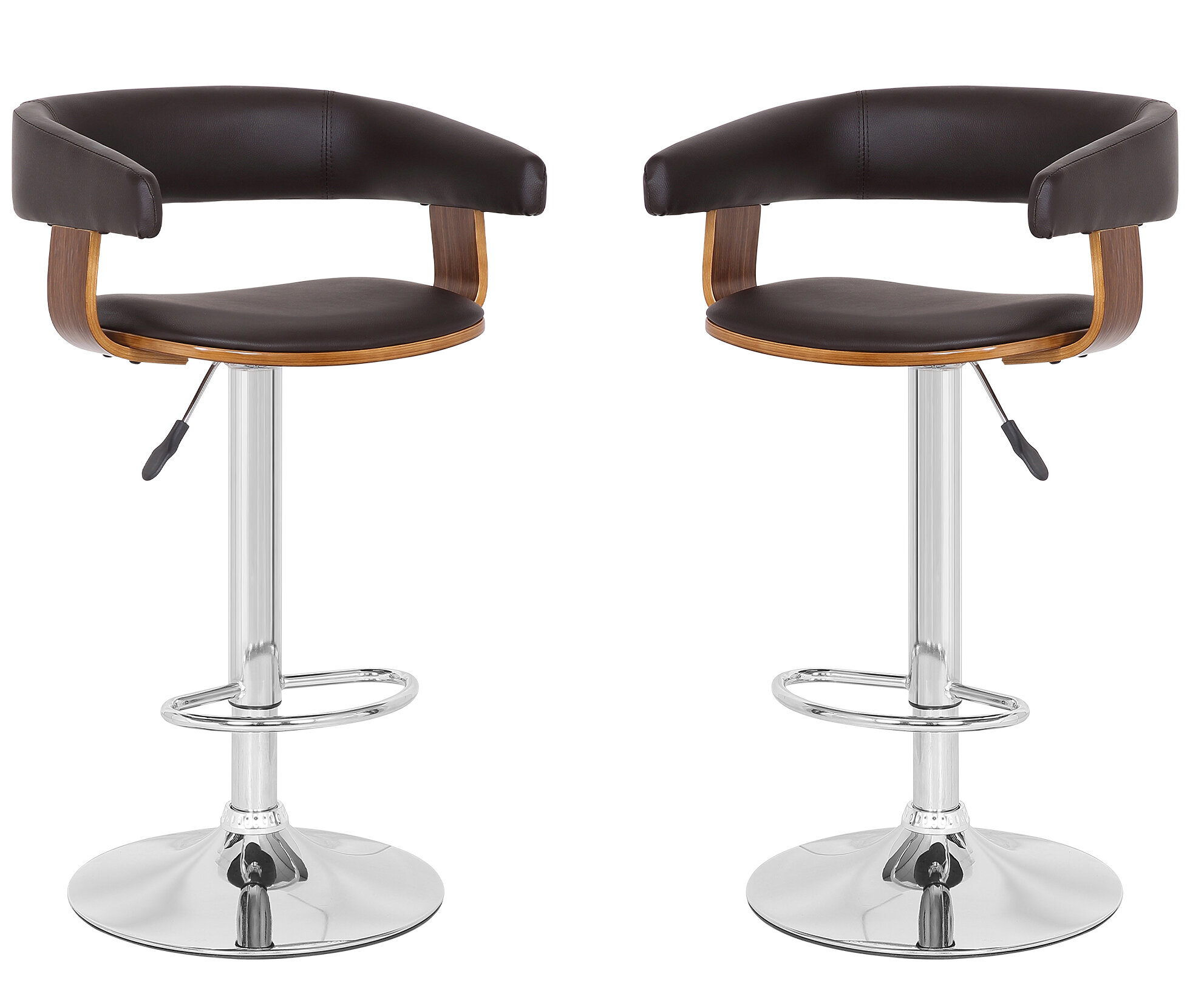 Pleasing Mcfarlin Adjustable Height Swivel Bar Stool Set Of 2 Uwap Interior Chair Design Uwaporg