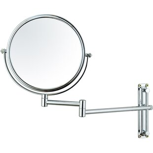 Round Wall Mounted Double Sided Makeup Cosmetic Swivel Mirror Mercer41