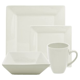 Ilse 16 Piece Square Dinnerware Set, Service for 4
