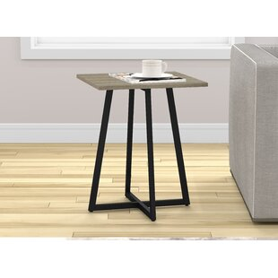 Karson Metal End Table by Union Rustic