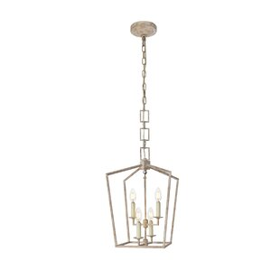 Everly Quinn Isoline 4-Light Geometric Chandelier