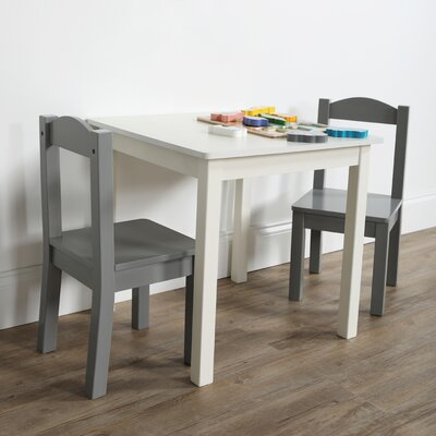 Zoomie Kids Kincer Kids 3 Piece Writing Table and Chair Set