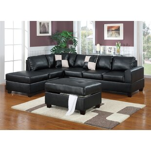Lyke 3 Piece Sectional Set with Ottoman
