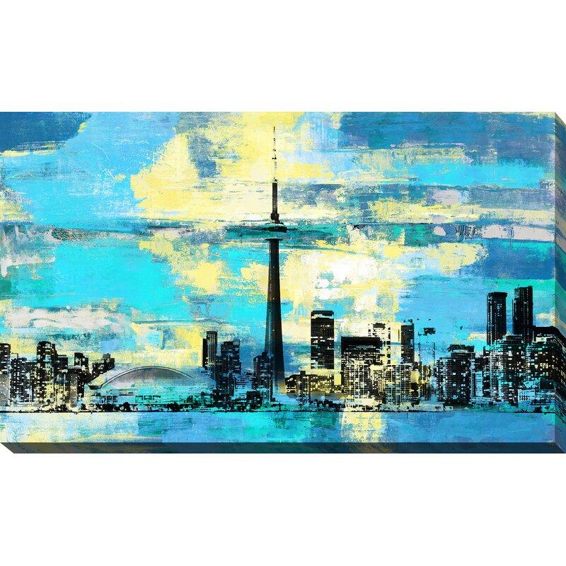 Latitude Run Toronto Iv Graphic Art Print On Wrapped Canvas Wayfair
