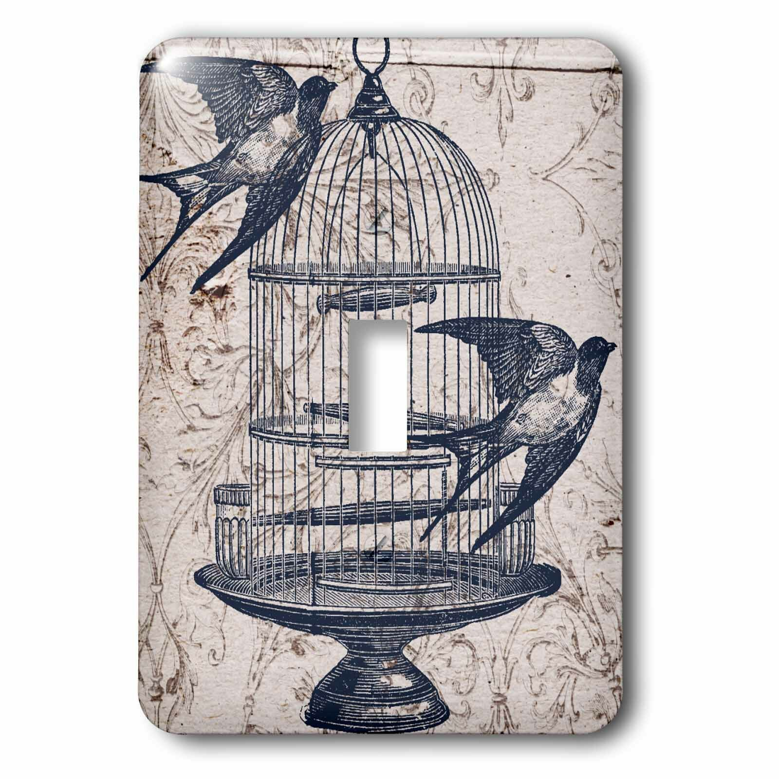 3drose Bird Cage Steampunk 1 Gang Toggle Light Switch Wall Plate Wayfair