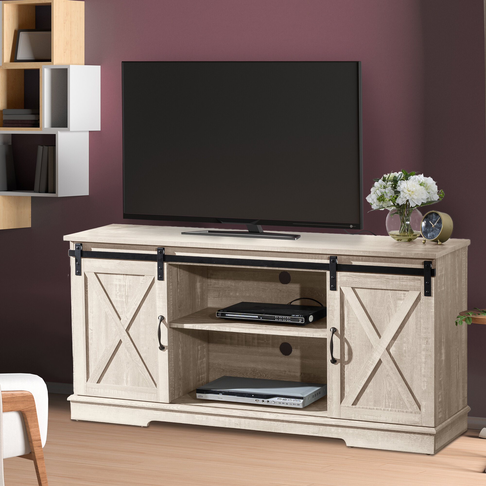 Gracie Oaks Berne Tv Stand For Tvs Up To 65 Reviews Wayfair