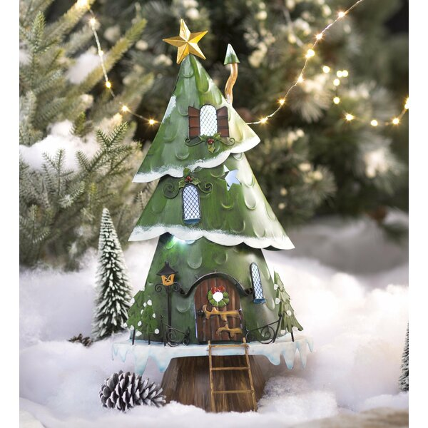 plow hearth christmas tree house fairy garden wayfair