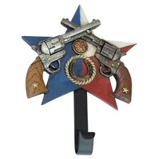 Double Pistols Star Wall Hook by De Leon Collections