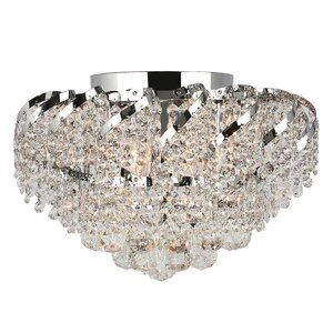 Carson 3-Light Glass Shaded Flush Mount