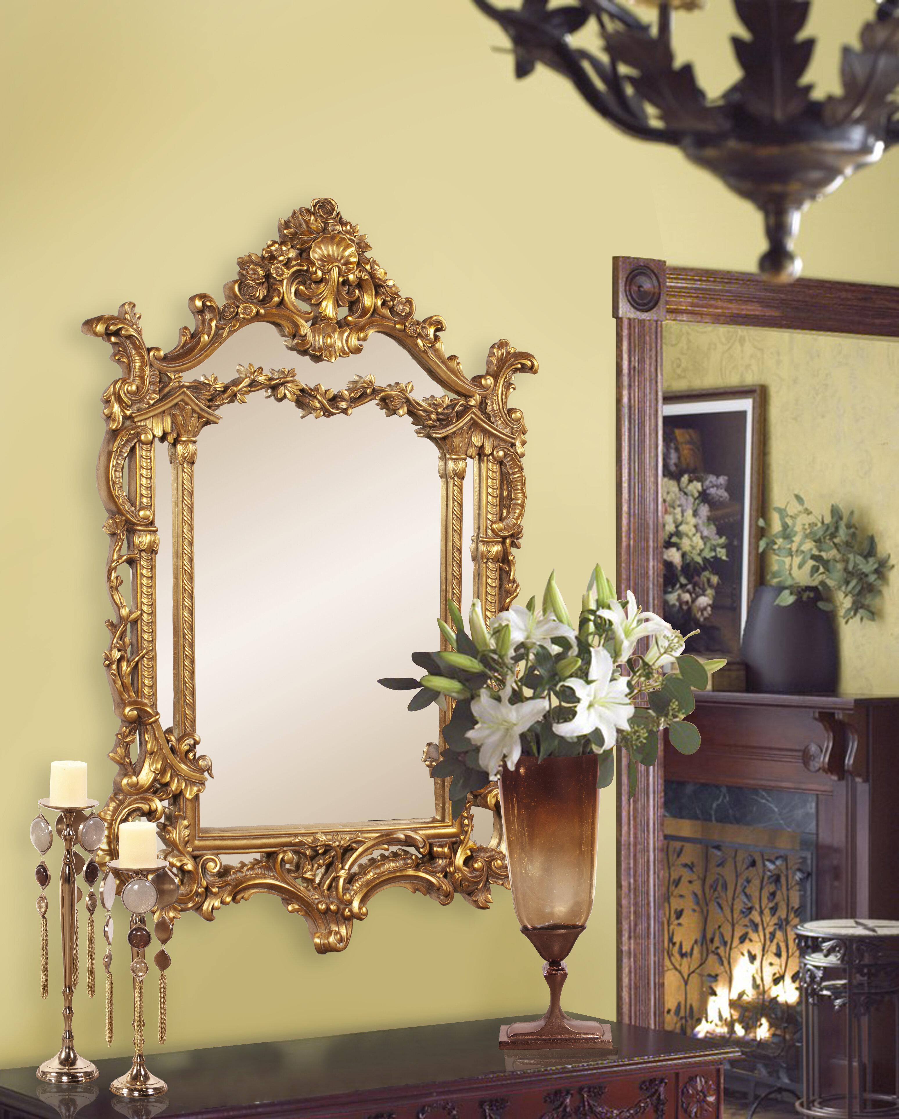 Astoria Grand Baroque Accent Mirror & Reviews | Wayfair