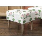 Johnnie 20'' Rectangle Floral Standard Ottoman by Bayou Breeze