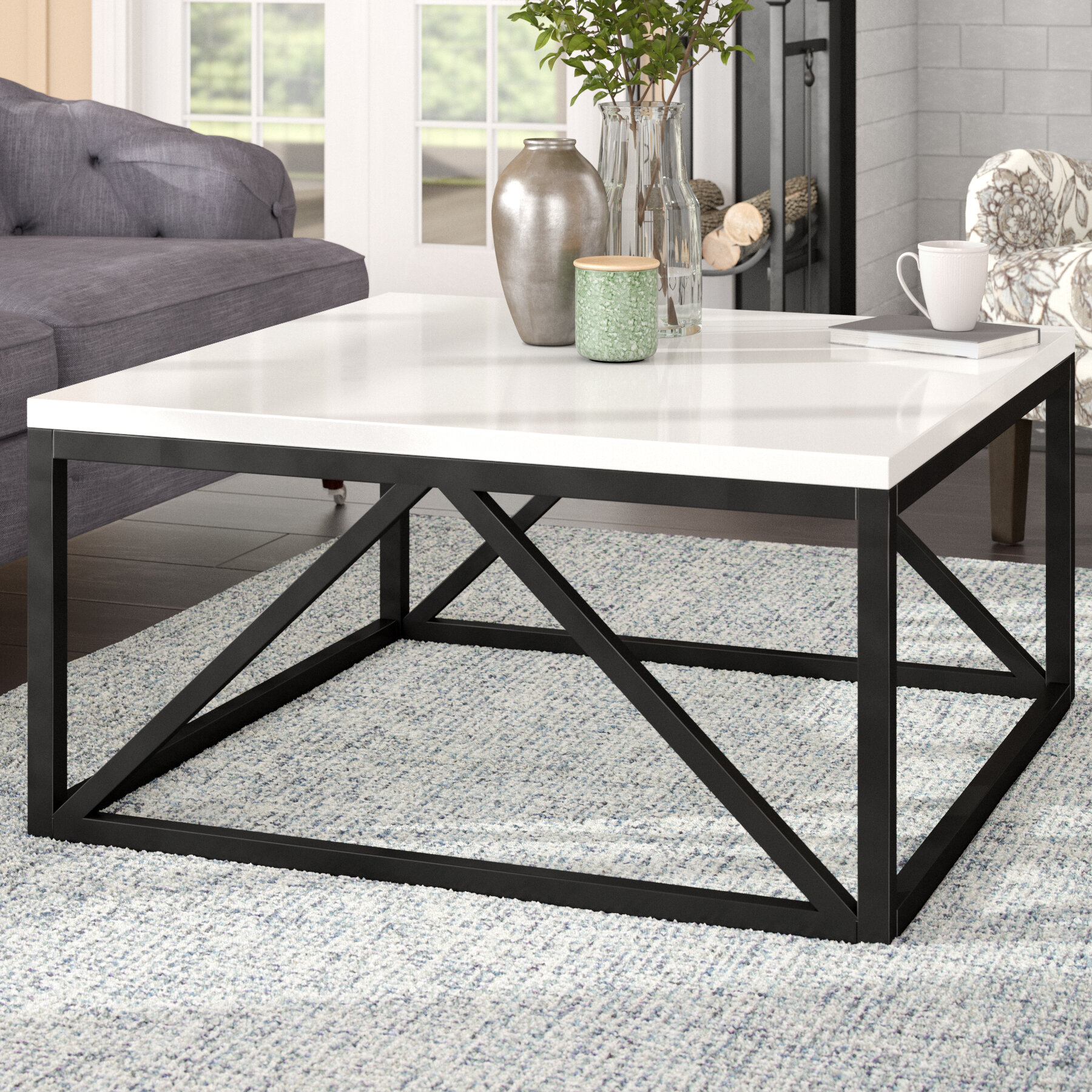 Gracie oaks dunstan two toned coffee table reviews wayfair ca