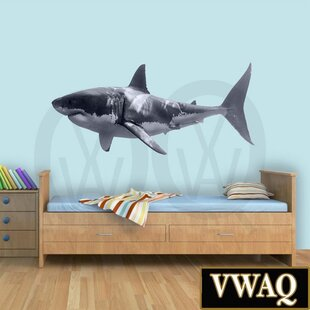 Great White Shark Realistic Peel and Stick Removable Wall Decal & Sea And Beach Themed Wall Decals Youu0027ll Love | Wayfair