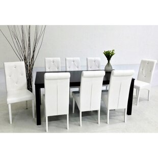 Dita 9 Piece Solid Wood Dining Set Warehouse of Tiffany