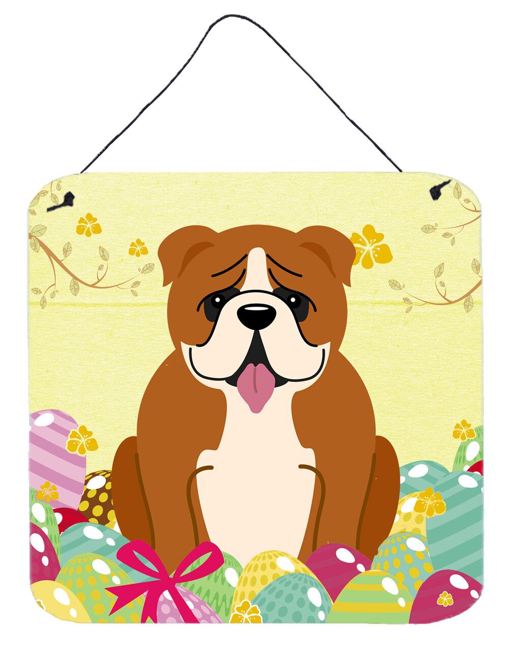 The Holiday Aisle Easter Eggs English Bulldog Metal Wall Décor | Wayfair