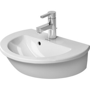 Price comparison Darling New Ceramic 19 Wall Mount Bathroom Sink with Overflow By Duravit