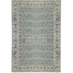 One-of-a-Kind Nooristan Hand-Knotted 14'9 x 22'6 Wool Beige/Blue Area Rug by Bokara Rug Co., Inc.