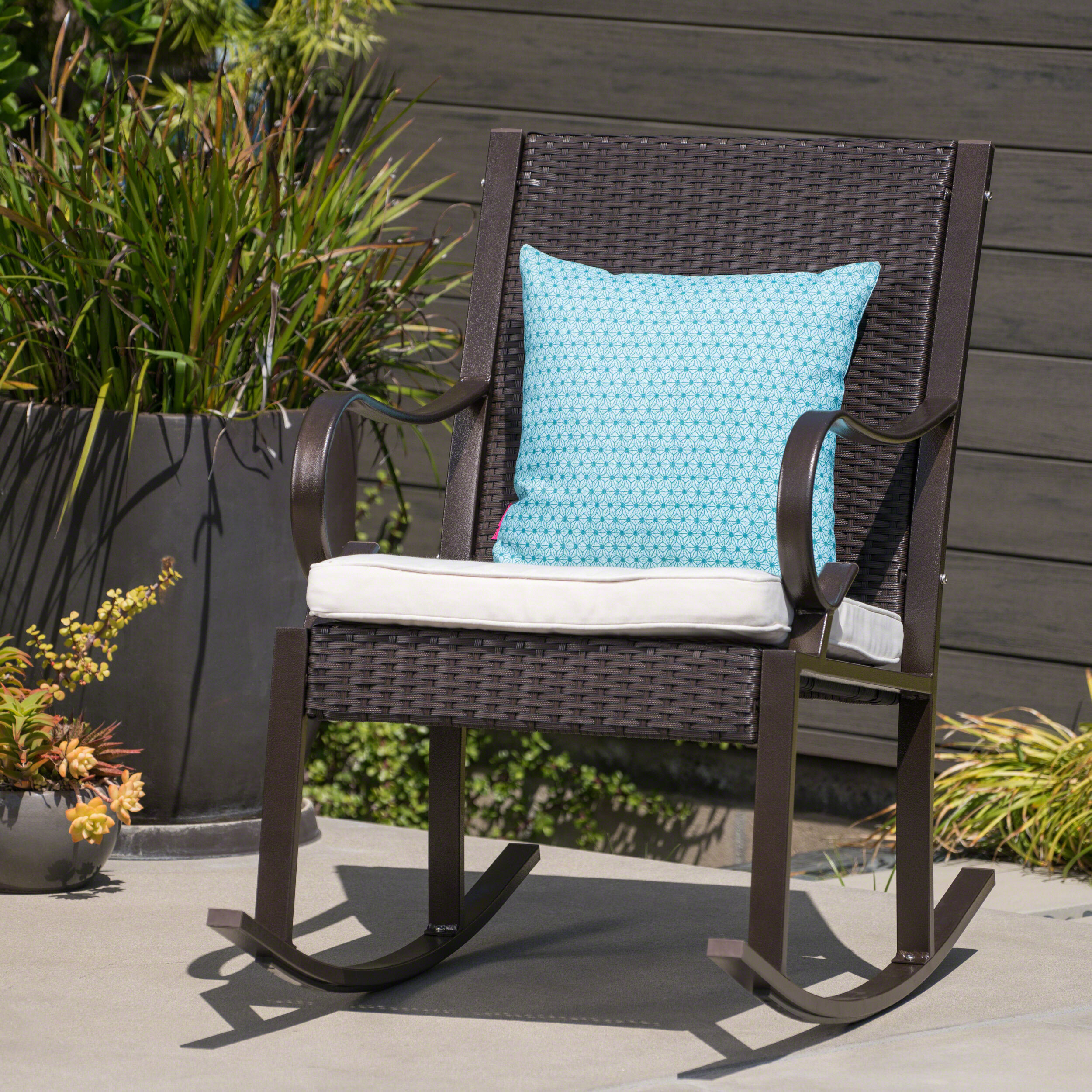 info for 559db 2c408 Kampmann Outdoor Wicker Rocking Chair with Cushions