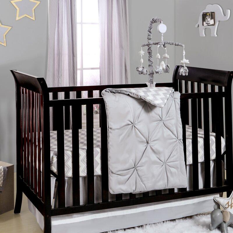 Zigzag Pin 4 Piece Crib Bedding Set
