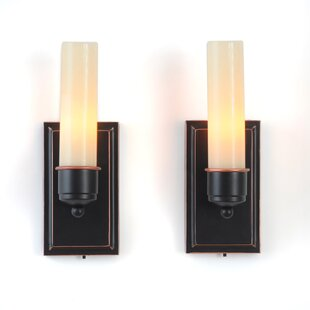 CandleTEK Wall Sconces Flameless Candles (Set Of 2)