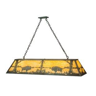 Loon Peak Wymore Buffalo 9-Light Pool table light