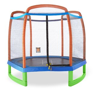 Pure Fun Pure Fun 7.1' Hexagon Trampoline With Safety Enclosure