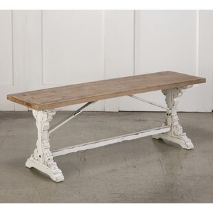 Ophelia & Co. Wight Farmhouse Style Wood Bench