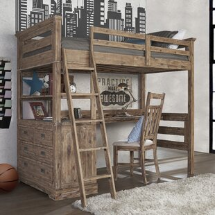 Best Price Elise Industrial Loft Twin Bed with 4 Drawer Chest ByGrovelane Teen