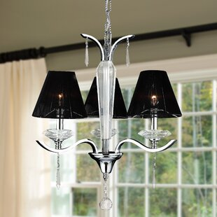 Rosdorf Park Roni Contemporary 3-Light Shaded Chandelier