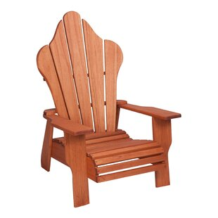 Hinkle Chair Company Red Grandis Solid Wood Adirondack Chair