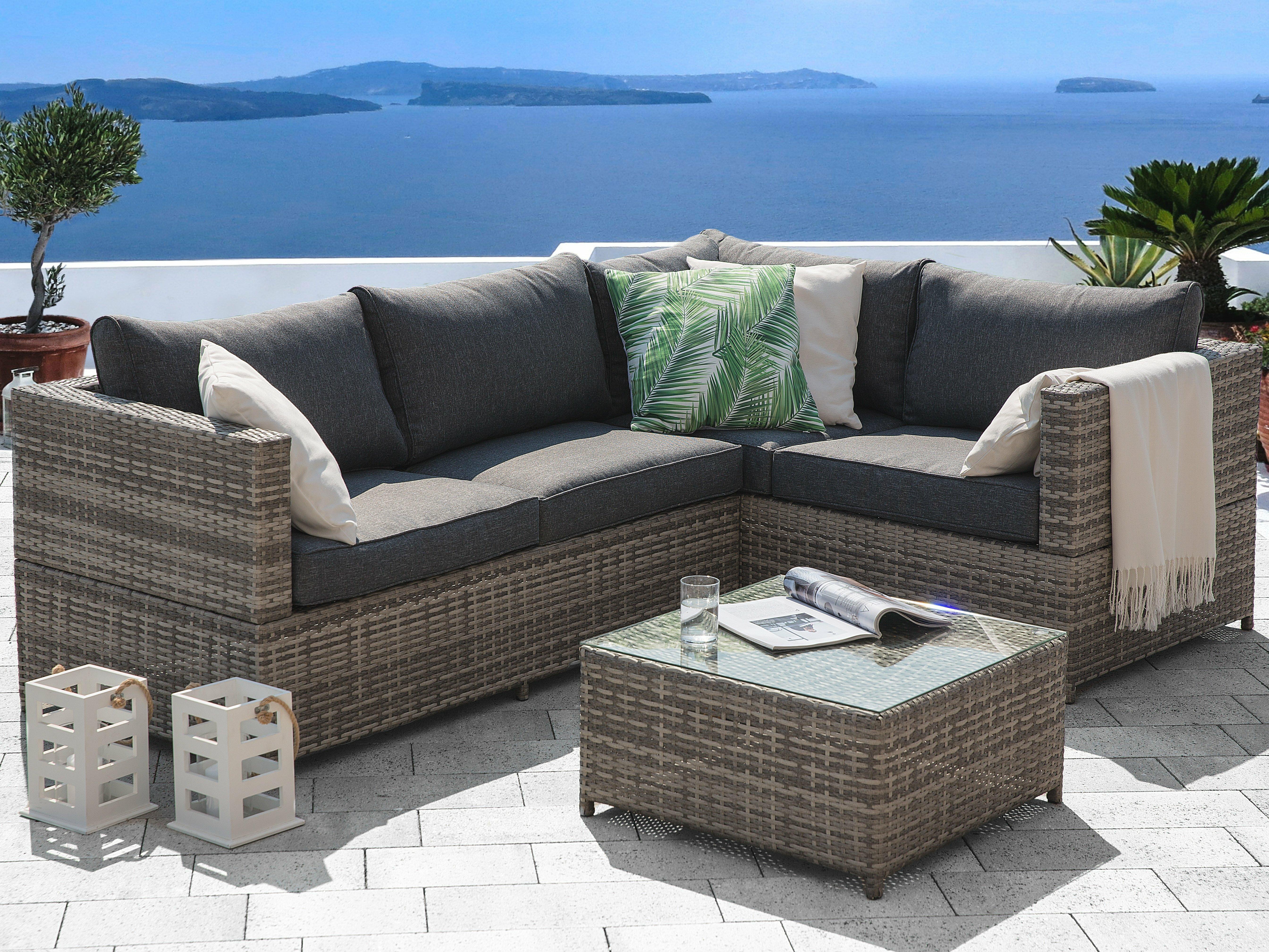 lynton garden carolyn 4 seater rattan effect corner sofa set rh wayfair co uk