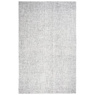 Marsh Hand-Tufted Wool Gray Area Rug by Gracie Oaks