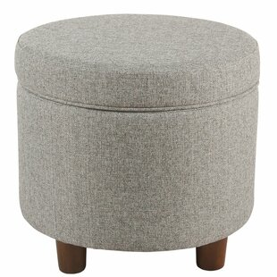 uk availability 257f4 b2034 Grey Round Ottoman | Wayfair