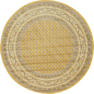 Swinson Yellow Area Rug by Charlton Home