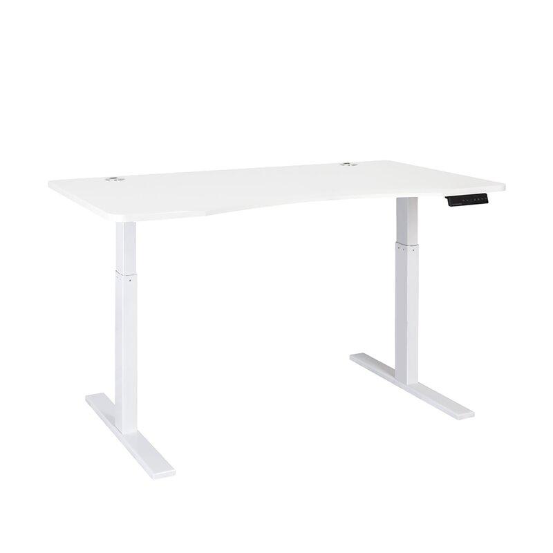 rectangular adjustable standing desk