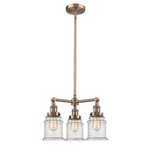 Greeley 3-Light Shaded Chandelier by Laurel Foundry Modern Farmhouse