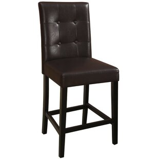 Routh Wooden Bar Stool (Set of 2) Charlton Home