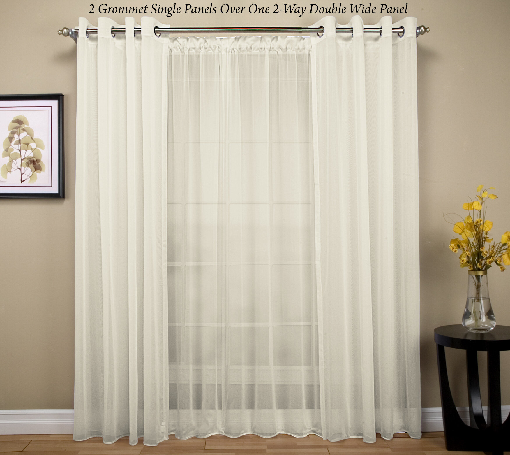 in opaque semi curtains l cheap taupe printed drapes wide set pair panel p cotton window extra of panels grommet curtain avila elements