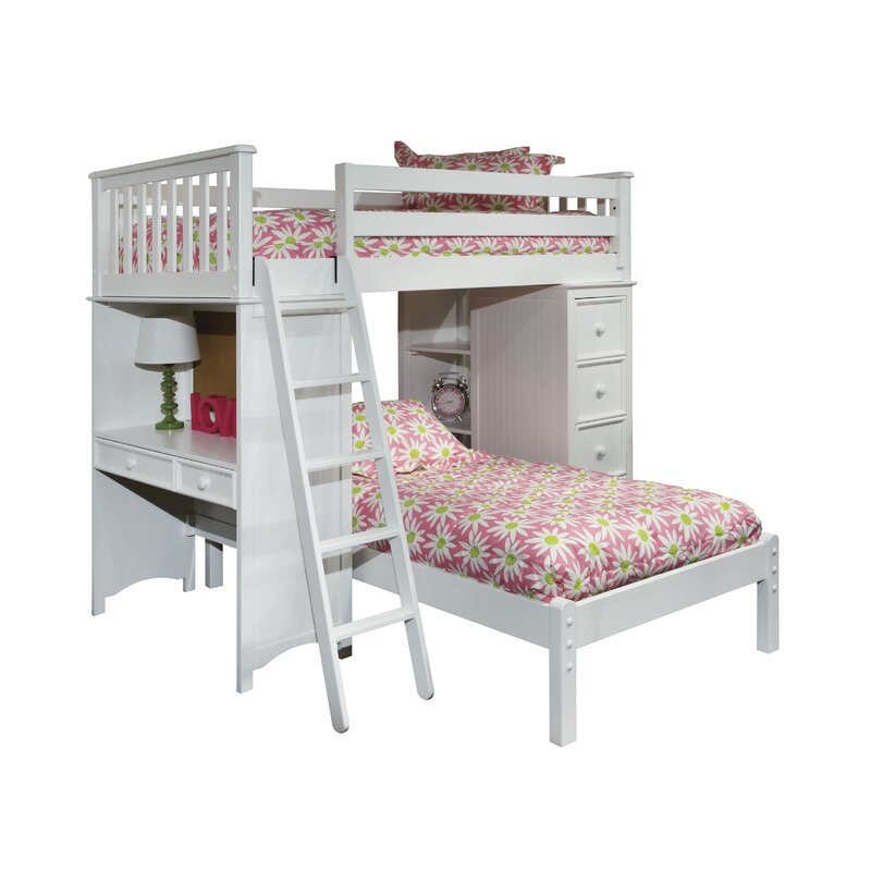 Bonneau Twin Loft Bed With Lower Platform
